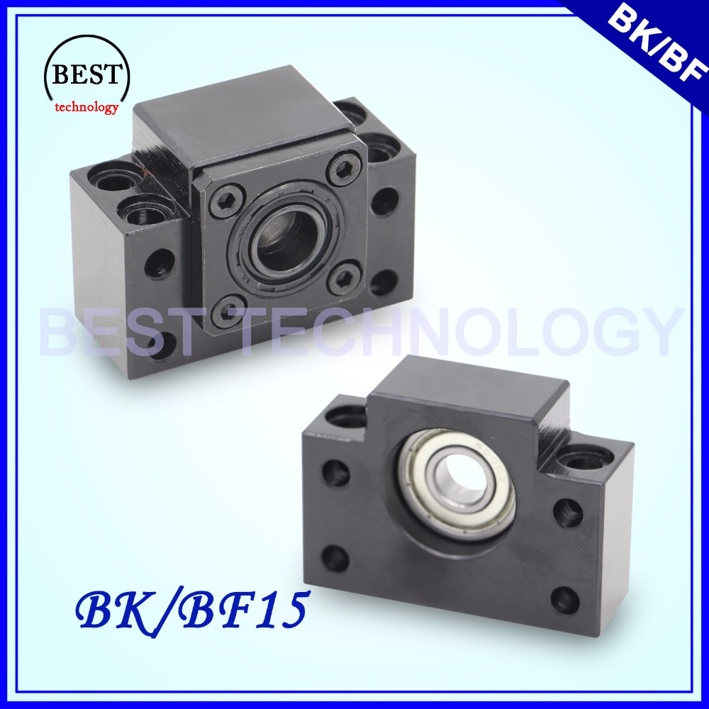 SFU2005 / SFU2010 Ball Screw End Support BK 15 & BF 15 CNC parts BK/BF15 SFU 2005 & SFU 2010 ballscrew end supports for cnc machine parts bk bf10 bk bf12 bk bf15 bk bf17 bk bf20 bk bf25 use sfu1204 1604 1605 2005 2010