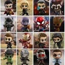 Мстители Бесконечная война Железный Человек-паук Доктор Стрэндж танос Капитан Америка MK50 Cosbaby Bobble голову игрушка рис. Бесплатная доставка