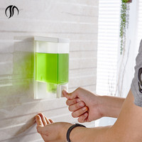 Transparent Hotel Bathroom Hand Shower Gel Plastic ABS Soap Dispenser Liquid Soap Holder Wall Mounted Shower