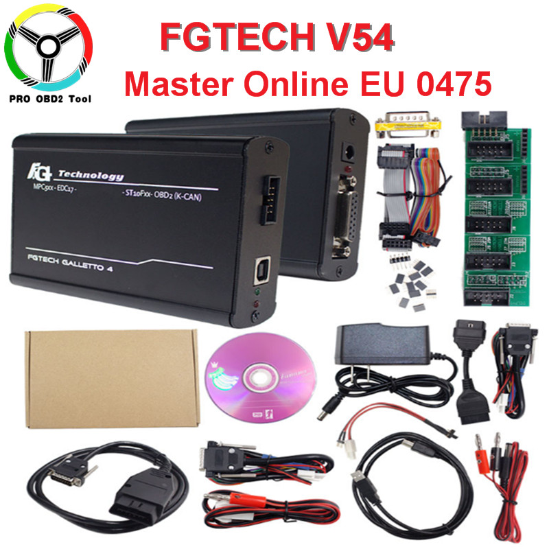 No Need Activation Fgtech Galletto V54 Master 4 ECU Chip Tuning Tool EUROPEO Version FG Tech V54 OBM-TriCore OBD K-CAN Car Truck