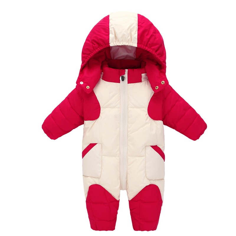 Baby Girls Jumpsuits Boy Snowsuit Baby Rompers Newborn Overalls Clothes Kid Children Jumpsuit 2018 Baby Winter Warm Outdoor Suit baby clothes baby rompers winter christmas costumes for boys warm long cartoon newborn overalls kid jumpsuit children outerwear
