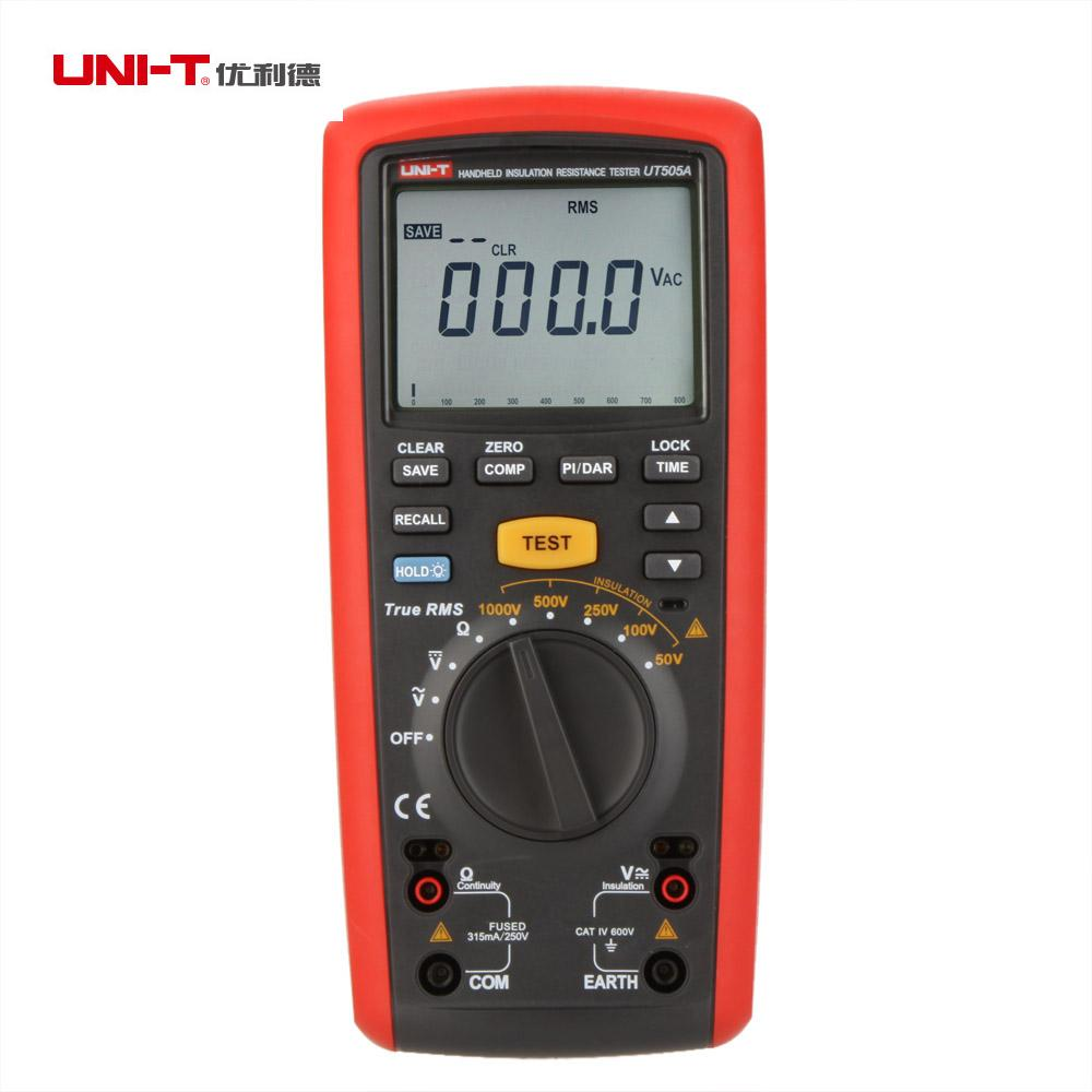UNI T UT505A Digital Handheld Insulation Resistance Tester True RMS Meter
