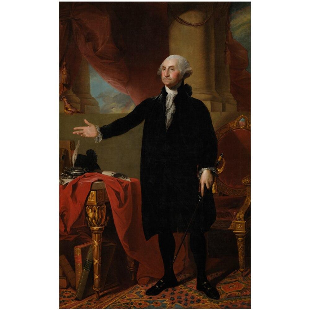 photograph regarding Printable Pictures of George Washington referred to as US $8.05 30% OFFCanvas artwork print dunia terkenal lukisan potrait dari george washington via gilbert stuart kanvas cetak gambar untuk dekorasi rumah di