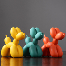 HOT Fashion Scrub Ballon Dog Ceramic Resin Crafts Sculpture Statues For Home Decoration Creative Gifts Modern Balloon Statue