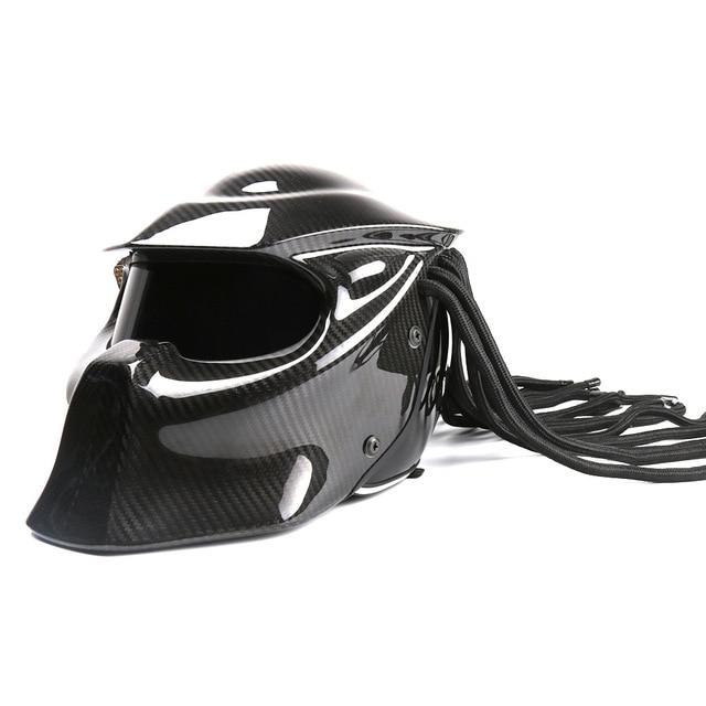 סיבי פחמן מלא פנים למבוגרים לייזר ברזל טורף קטר Moto קסדת מירוץ אופנוע זכר מלא קסדת אמיתי אופנוע
