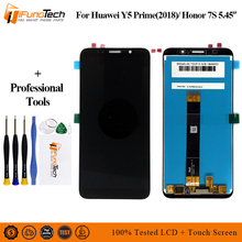 5.45 inch Full LCD DIsplay + Touch Screen Digitizer Assembly For Huawei Y5 Prime 2018 DRA-L02 DRA-L22 DRA-LX2 Free Shipping free shipping ltn156at01 claa156wa01a b156xw01 n156b3 l02 l0b lp156wh1 tla1 c1 1ccfl 1366 768 lcd screen 30pin connector