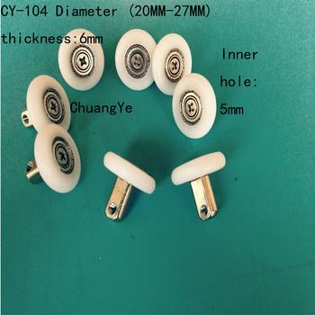 8 x rolki drzwi prysznicowych prowadnice koła 19mm-27 średnica części zamienne CY-104 tanie i dobre opinie Prysznic ekranu Plac Akrylowe Miedzi Zawias Prostokąt Clarmonde Diament typu Kabiny prysznicowe Z ramą W zestawie