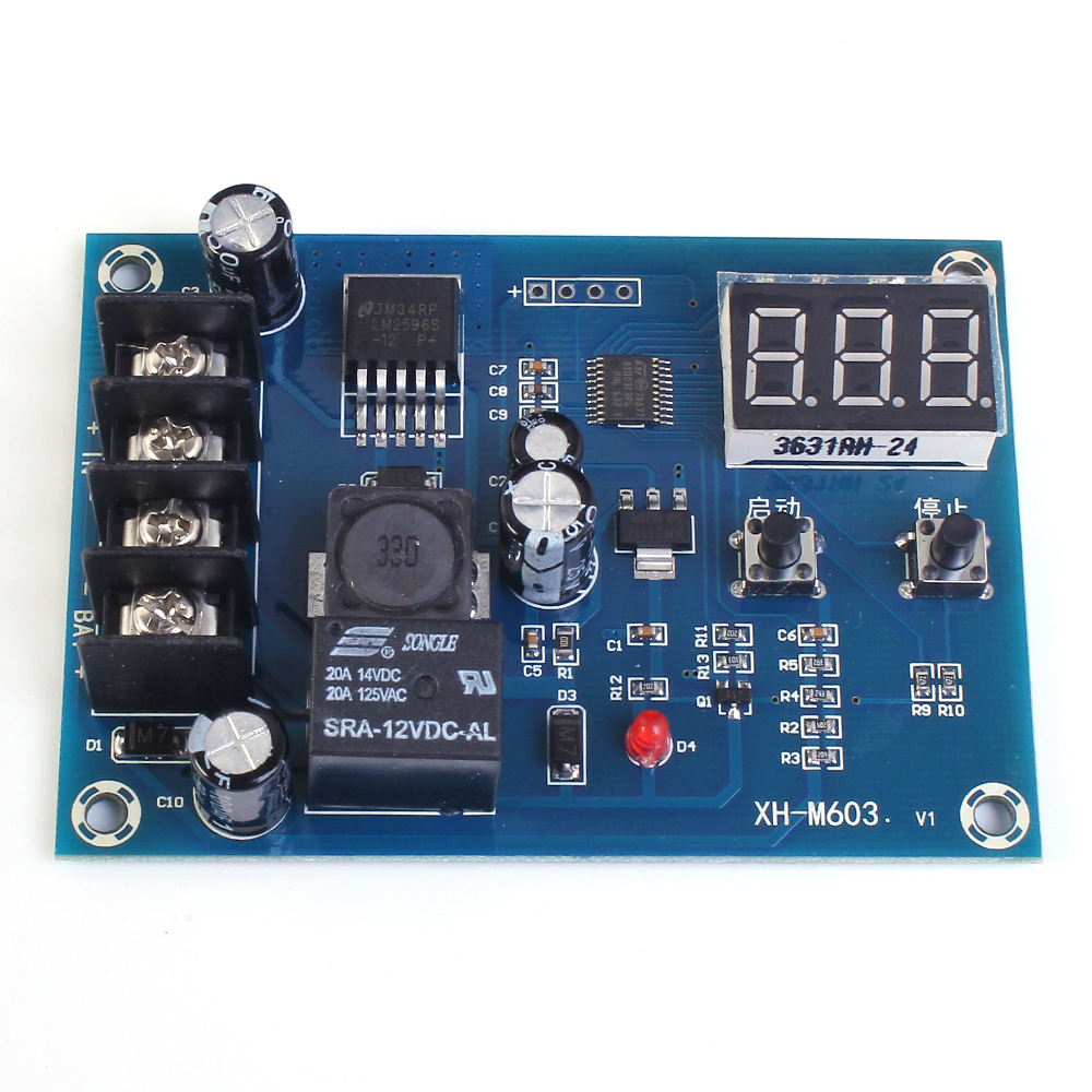 Xh M603 Charging Control Module 12 24v Storage Lithium Battery Circuit Shows About 6 Lead Acid Charger Diagram Switch Protection Board In Integrated Circuits From Electronic Components