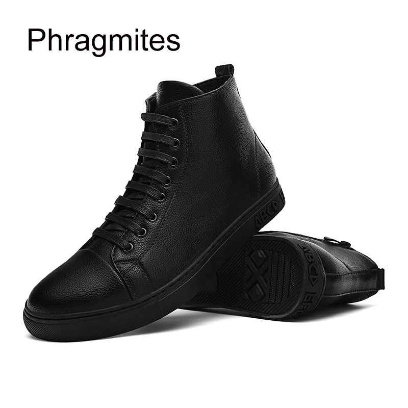 Phragmites hip hop fashion street dance shoes hight top male flats solid black botas mujer cool high quality mens boots недорго, оригинальная цена