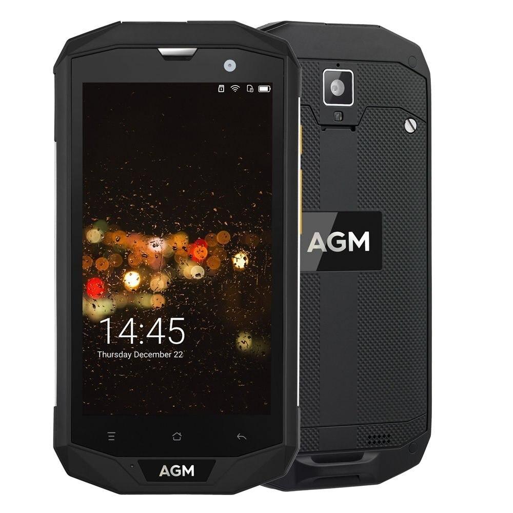 AGM A8 5 4G FDD-LTE Android 7.1 Mobile Téléphone Double-SIM IP68 Robuste Smartphone Quad Core 13.0MP 4050 mAh Soutien Bluetooth NFC OTG
