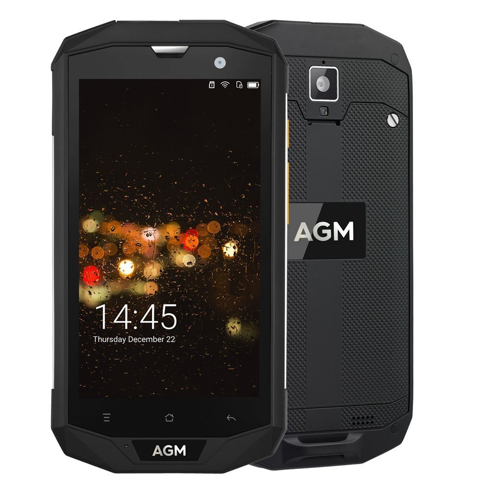 AGM A8 5 4G FDD-LTE Dual SIM IP68 Rugged Mobile Phone Unlocked Android 7.0 Quad Core 13.0MP 4050mAh Support Bluetooth NFC OTG