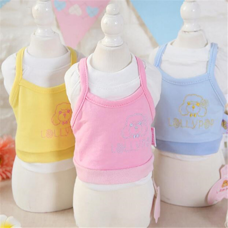 OnnPnnQ Pet Dog Clothes Soft Cotton Puppy Shirts T shirt Cat Vests Suit Cartoon Costume Clothing for Small Pets Chihuahua XS-XL