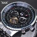 Homens Relógio Marca De Luxo Jaragar Multifunções Tourbillon Automatic Relógios Mecânicos Homens Relógio de Aço Inoxidável Completa Montre Homme