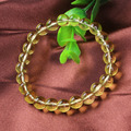 XSM Wholesale New Trendy Natural Citrine Crystal Round Beads Stretch Bracelet Fashion Jewelry