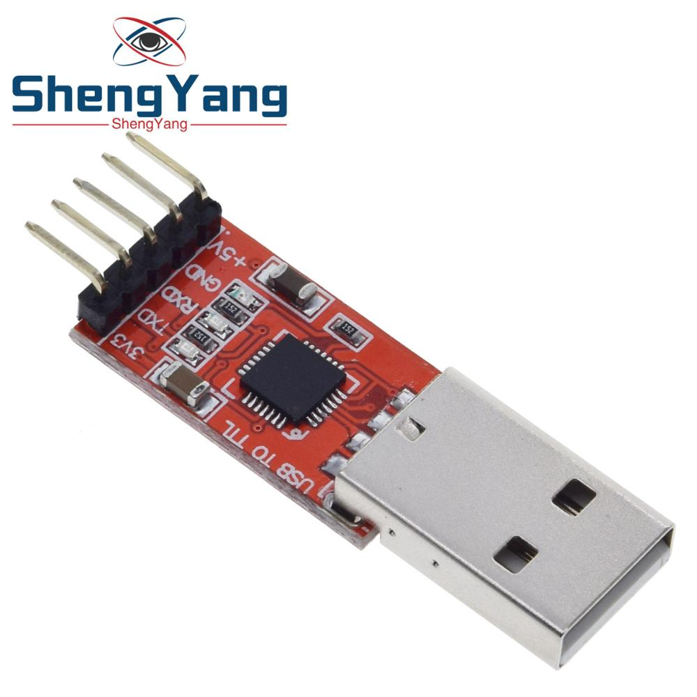 ShengYang CP2102 USB 2.0 To TTL UART Module 5Pin Serial Converter STC Replace FT232 Module Red