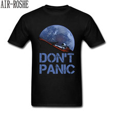 Novelty Occupy Earth SpaceX Starman T Shirt Man 100% Cotton Elon Musk Space X T-Shirt Summer Camiseta Mens Tshirt Don't Panic(China)