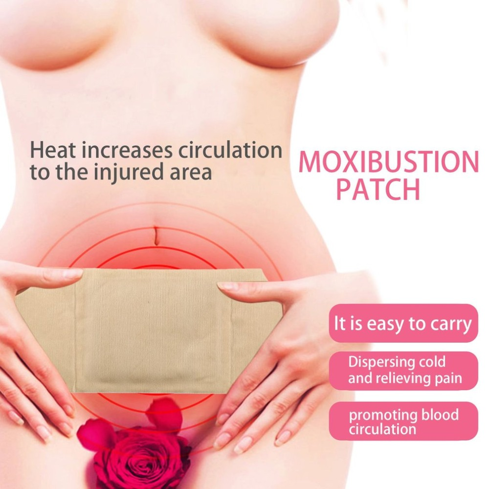 Moxibustion Heating Pad Relief Pain Natural Herb Chinese Traditional Heat Therapy Patch for Neck Shoulders Back Pain Relief
