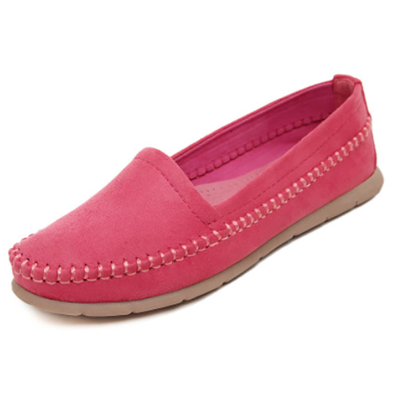 2016 Slip On Flats Woman  Shoes Summer Autumn Fashion Casual Women Shoes Comfortable Round Toe Loafers Shoe Plus Size 35-40 7D46 women flats slip on casual shoes 2017 summer fashion new comfortable flock pointed toe flat shoes woman work loafers plus size