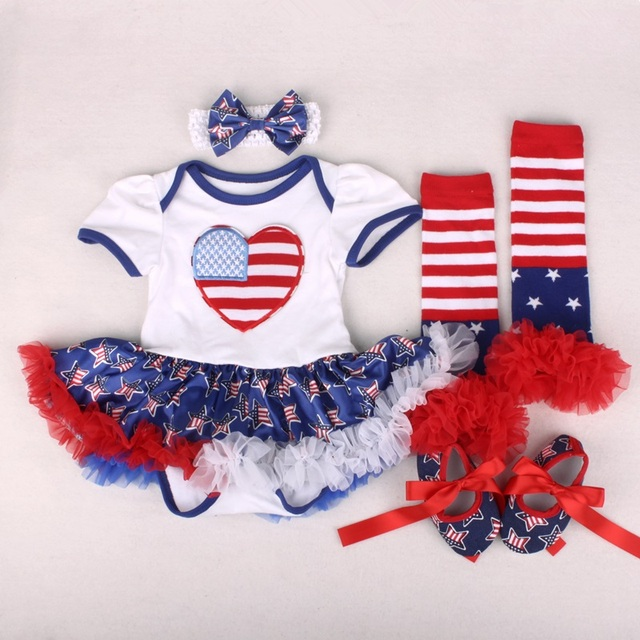 6325b5777576 Patriots Cotton Newborn 4th Of July Jumpsuit Summer Baby Girl ...