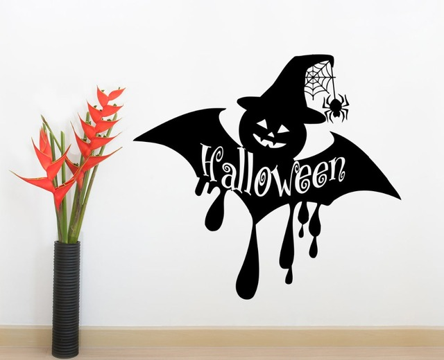 HOLIDAY Wall Decals HALLOWEEN Decals Bat Vinyl Stickers Home Decor