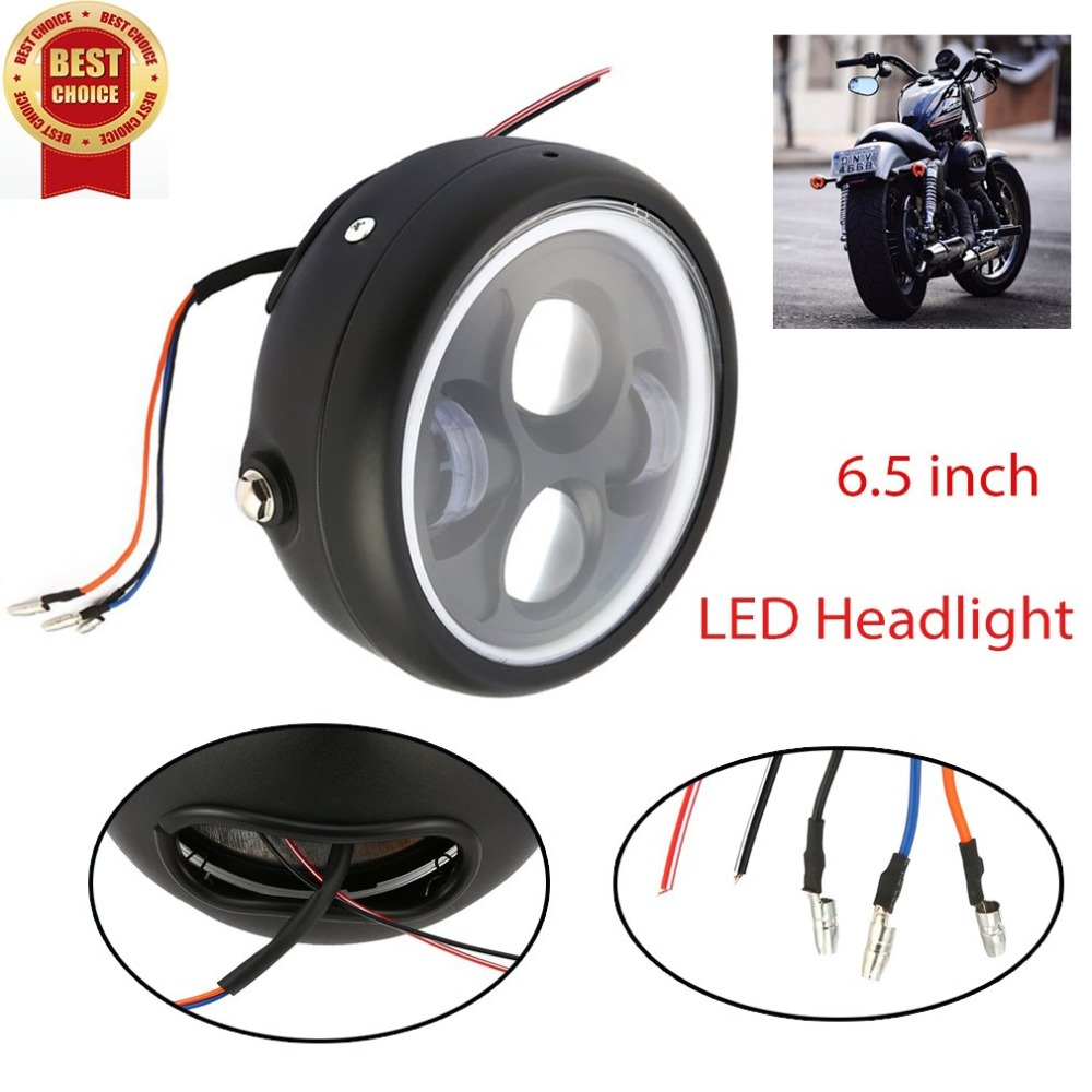 New 16cm 6 5 Motorcycle LED Headlight Head font b Lamp b font Bulb for Cafe