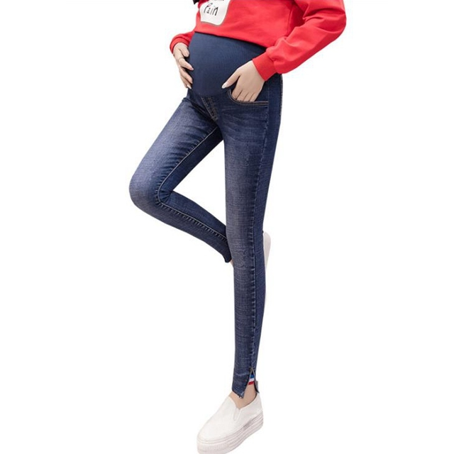 8113522a6e413 Slim slimming maternity jeans maternity jeans elastic waistband pregnant  women pants ropa embarazada pregnancy clothes grossesse
