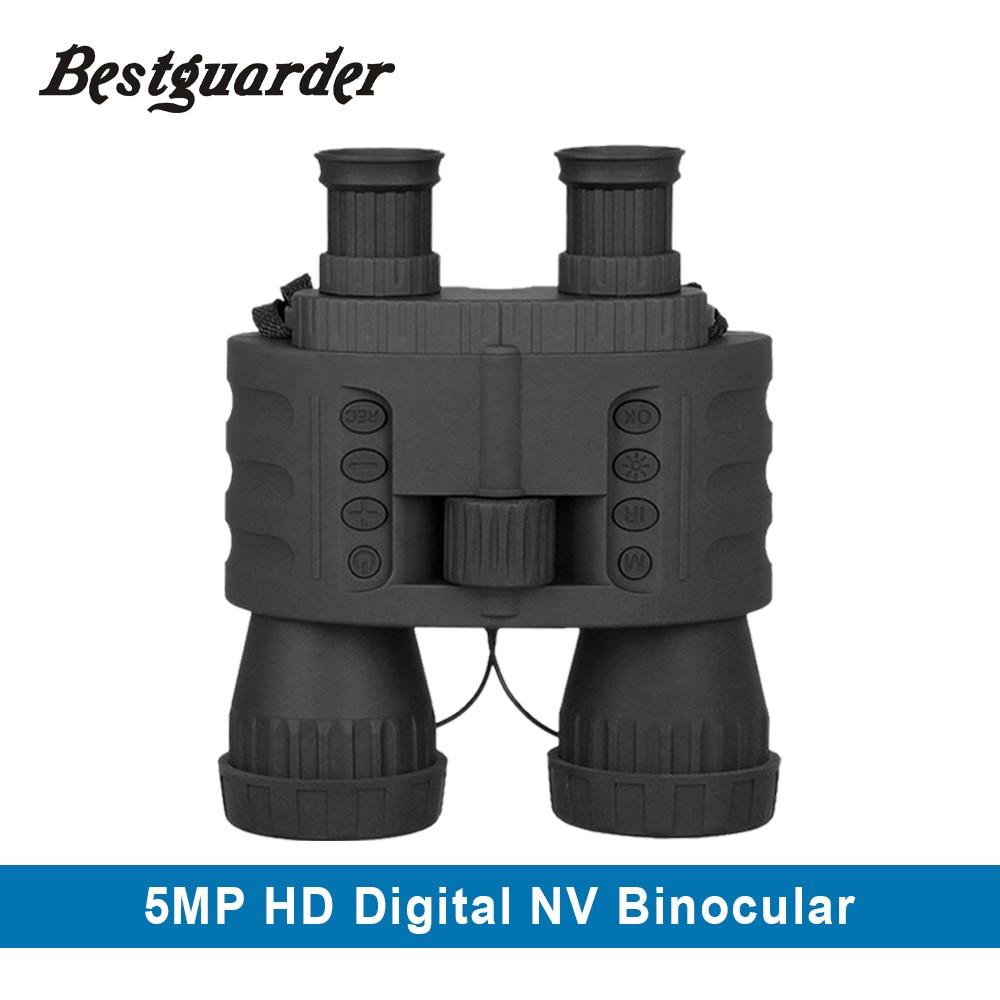 4X50mm visión nocturna Digital Binocular 980ft caza Binocular telescopio infrarrojo visión nocturna-Binoculares-jumelles infrarrojos dvr