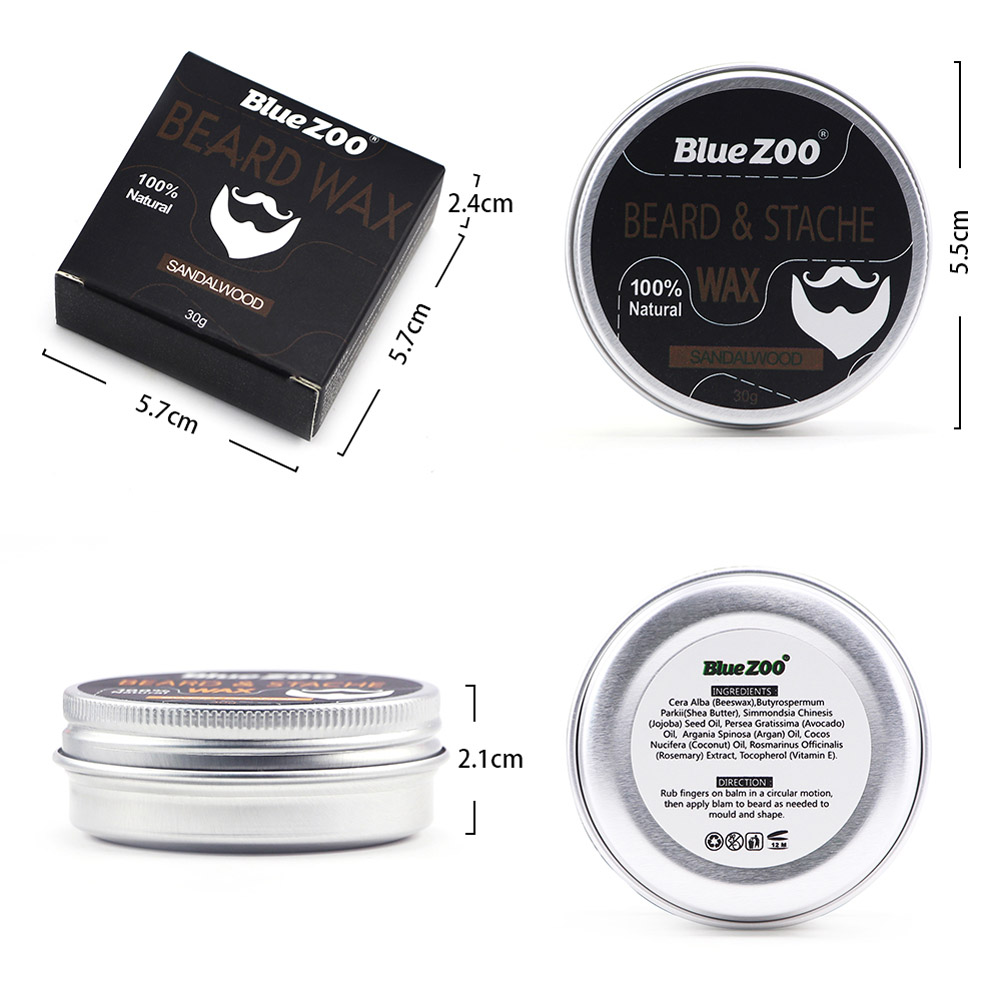 Men Beard Moustache Styling Wax Moisturizing Oil Control Balm Smoothing Care Cream  WH998 5