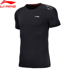 Li-Ning Men Training Comfort Breathable 3D Fitting Regular Fit Tee 100% Polyester T-Shirt LiNing Sports T-shirt ATSN017 MTS2734