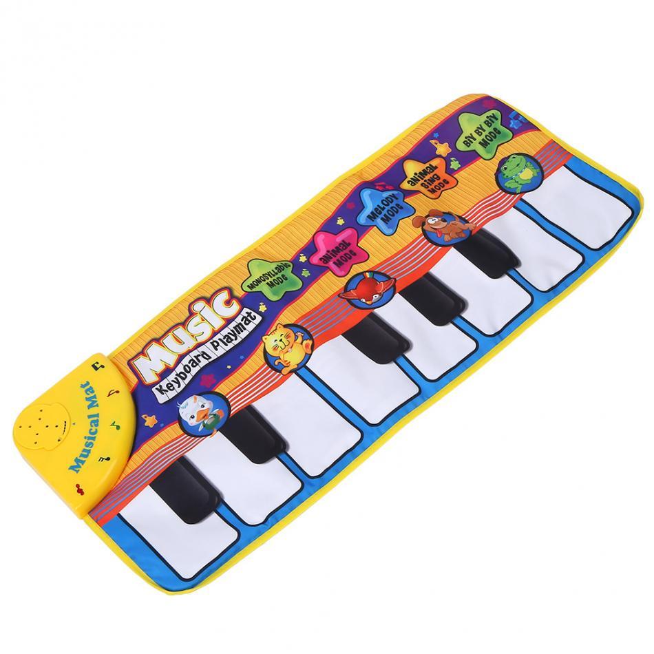 Baby Piano Music Play Mat Animal Sounds Musical Keyboard Crawling Blanket Kids Gift Educational Carpet ElectronicToys Hot