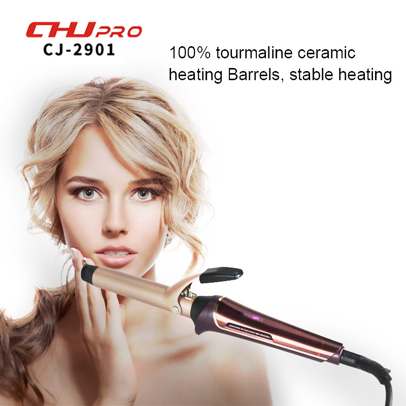 Hair Curler Electric Ceramic  Hair Curling Iron Lcd Big Hair Waver Iron Portable Hair Curlers Styling Tools Curling Wand kemei km 2022 electric ceramic curler with three perm rolls magic hair curlers curling iron hairstyle tool