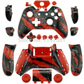 Custom Hydro dipped Red splatter Controller Shell with full buttons Mod Kit for Microsoft Xbox one 1 controller case cover