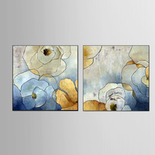 Wholesale Top Wall Deocr Canvas Painting Gold foil flower series Modern Printed Oil Pictures Living Room No Frame 201811-KJQ-277
