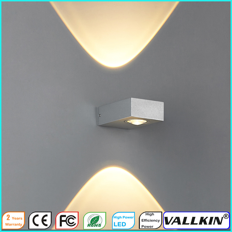 Indoor 3W LED Wall Lamp AC110V or 220V Bedroom Decorate Sconce Cold White Warm White CE