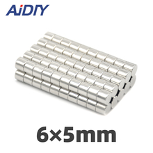 цены 50/100/200 pieces 6 x 5mm Strong round Disc neodymium magnet 6*5mm free shipping