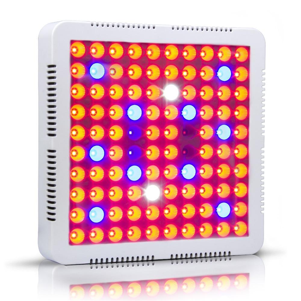 2018 nouveau 300 W LED grandir panneau lumineux 100 3 W SMD3030 LED 7 bande plante pousser lampe pour serre intérieure plantes hydroponiques éclairant
