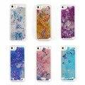 2017 nova glitter borboleta bling dinâmico líquido quicksand rígido capa para iphone 5 5s phone case
