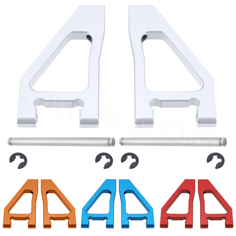 2 Pcs Alloy Front Upper Suspension Arm(Al.) For FS Racing 1/10 Desert Buggy 53625 53632 Baja RC Vehicle Upgrade Parts (Blue)(China)