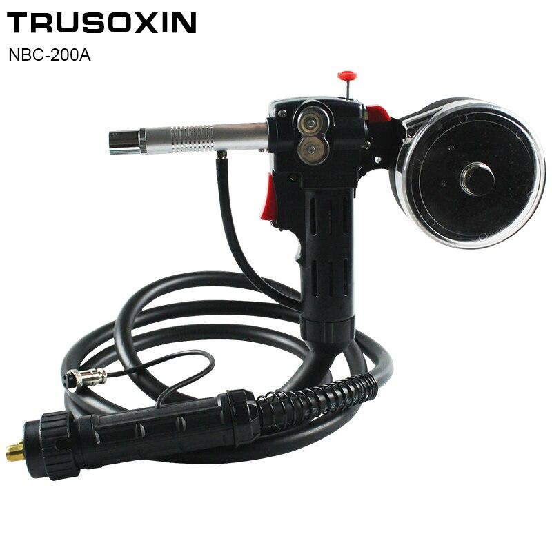 Connettore UE 3 Metri Spool Gun Push Pull di Alimentazione Filo di Rame di Alluminio o In Acciaio Inox DC 24 v Motore 0.6 -1.2mm MIG Torcia di Saldatura