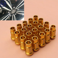 Free Shipping Universal Fit Hight Quality Car Styling 20pcs D1 Spec JDM Racing Wheel Lug Nuts M12X1.5/1.25 for Ford Toyota Gold