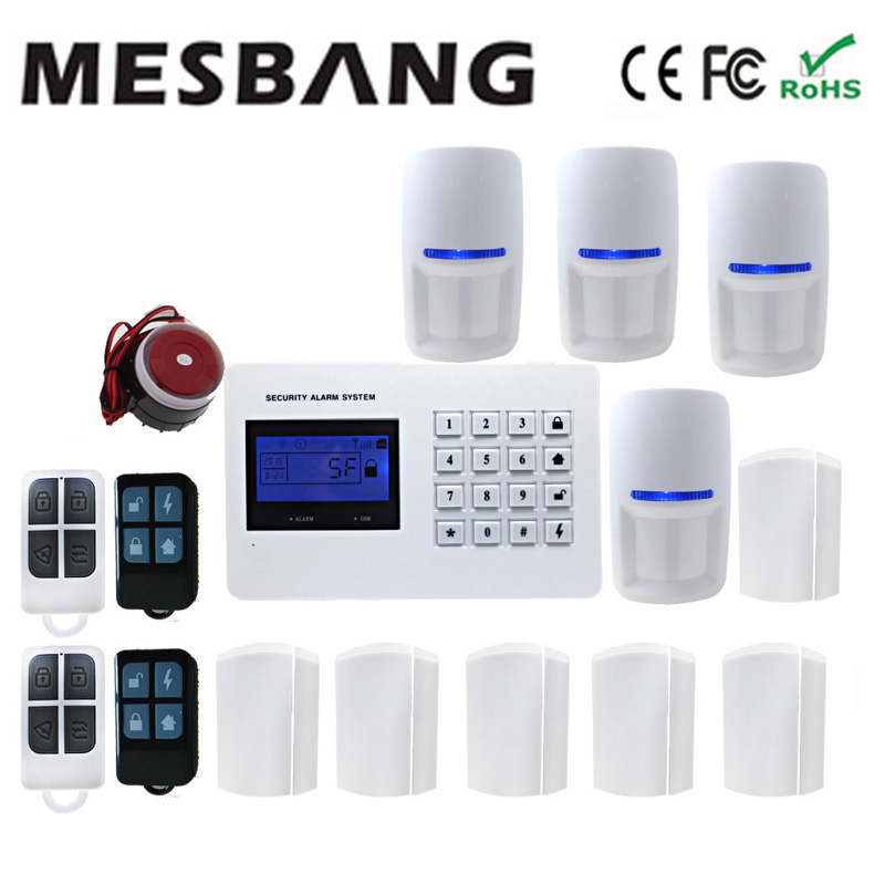 security wireless gsm telephone burglar an-thief alarm system with Russian Spanish English language free shipping By DHL Fedex