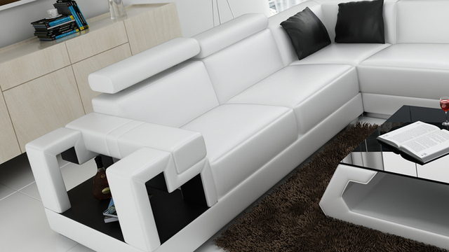 Living Room Sofa Furniture U Shaped Modern Corner Fashion Design Set 0413 K5001