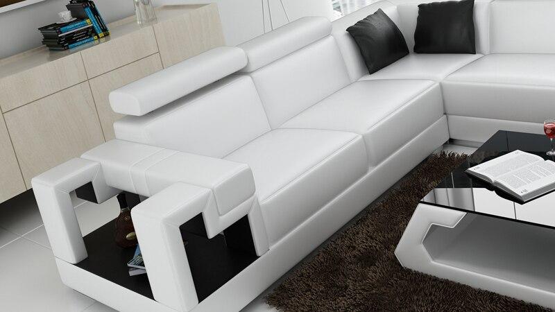 US $1498.0 |Soggiorno mobili divano a forma di U divano ad angolo moderno  fashion design set 0413 K5001-in Divani da soggiorno da Mobili su AliExpress