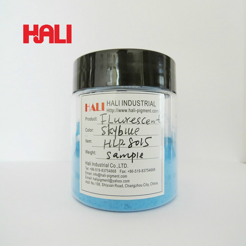 supply quality fluorescent pigment skyblue fluorescent powder neon pigments item HLP 8015 color skyblue 1 bag