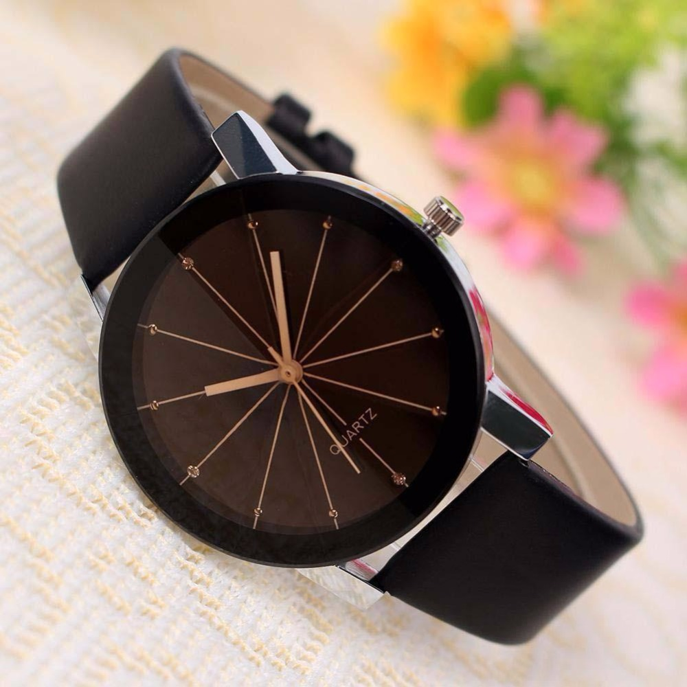 Fashion Band Quartz Analog Wrist Watches High Quality Casual Men Women Leather For Lover A