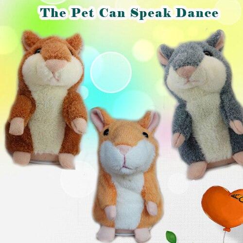 De peluche de hámster del ratón puede hablar de baile lindo educación interactiv