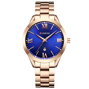 2018 CURREN Luxury Fashion Women Watches Simple Quartz Clock Gold Stainless Steel Watch Women Ladies Watches Relogio Feminino дамски часовници розово злато