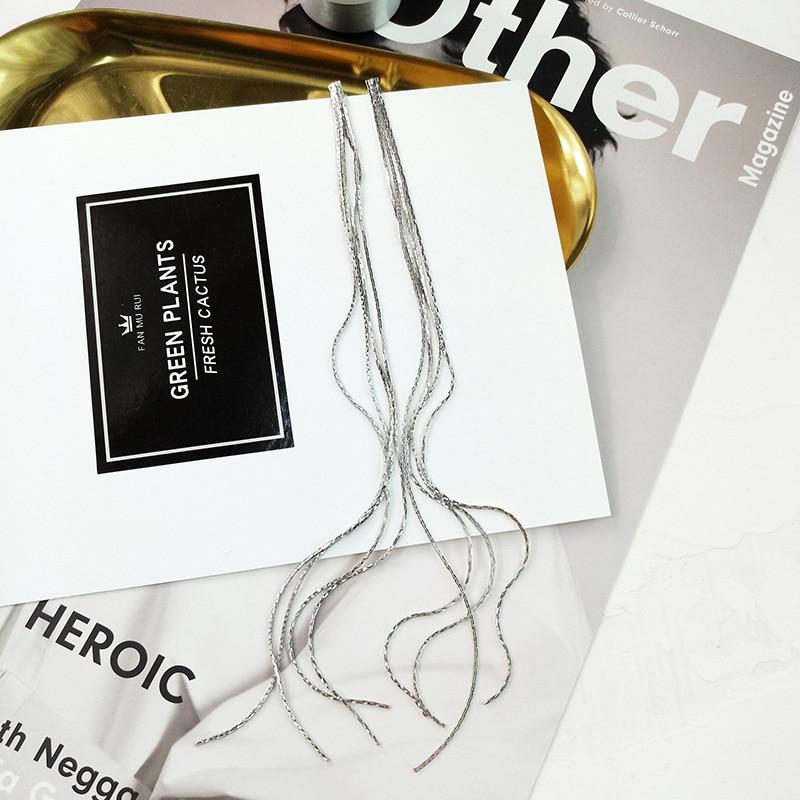 2018 Новое поступление горячие модные Brincos Bijoux Многослойные медные цепи кисточкой длинное эффектное Висячие серьги для женщин ювелирные изделия
