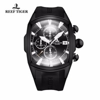 2018 New Arrival Reef Tiger/RT Big Watch Mens All Black Sport Watches Date Waterproof Chronograph Relogio Masculino RGA3069 T