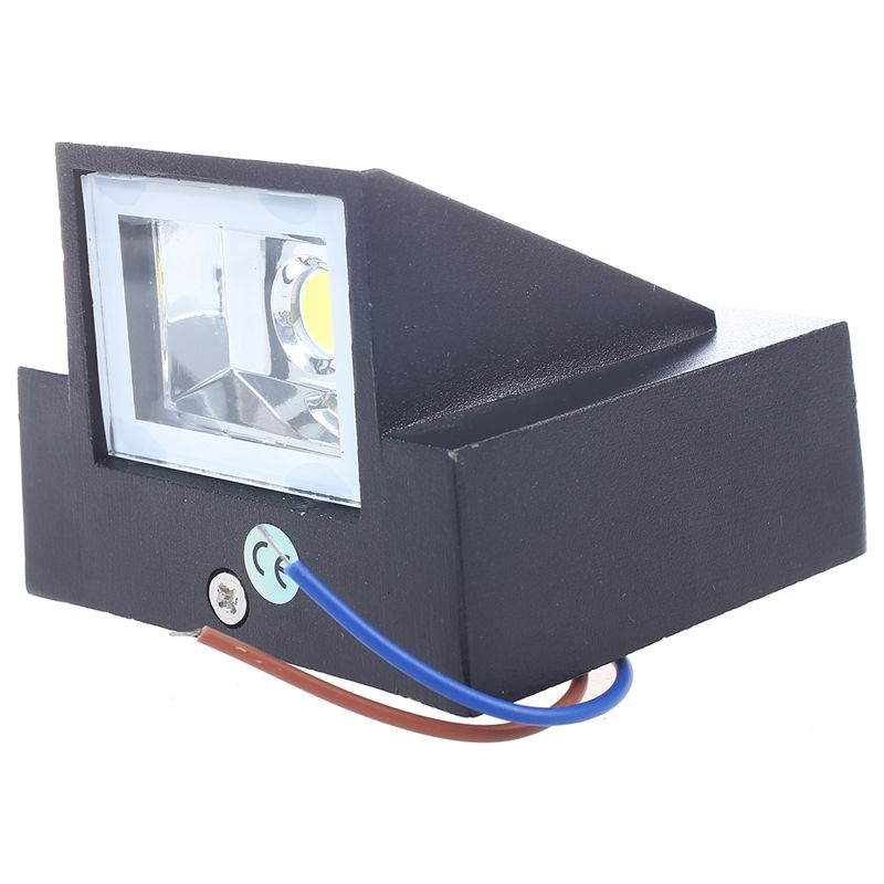 3W LED Outdoor Exterior Wall Step Down Light Fixture Lamp Black Finish Warm White
